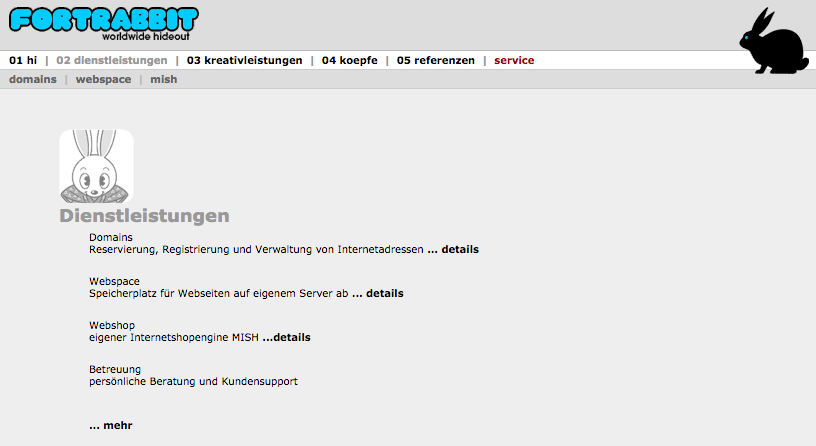 fortrabbit hosting website anno 2004